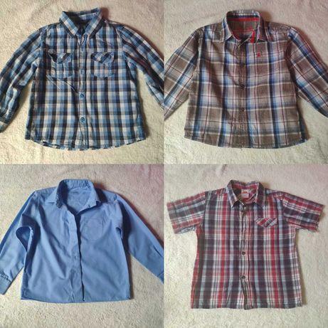 Рубашки мальчику от 3 до 6 лет короткий и длинный рукав шведка