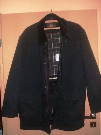 Kurtka męska Folstop Malaite elegancka czarna bawełna xl