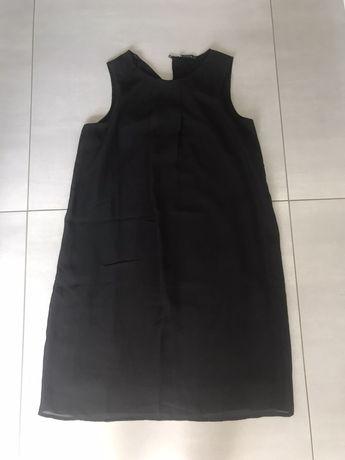 Sukienka szyfonowa czarna naramki xs/s polecam