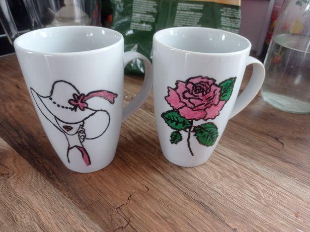 Kubek ceramiczny ręcznie malowany