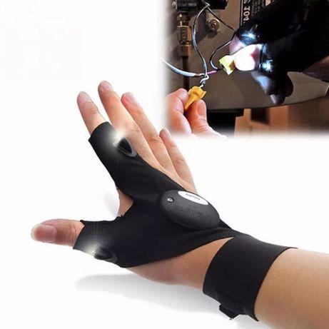 Rękawica wędkarza, majsterkowicza LED