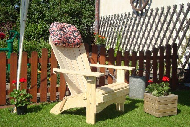 Drewniane fotele składane tarasowo-ogrodowe - Adirondack chair