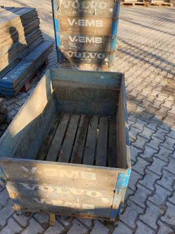 Skrzyniopalety, skrzynie składane, skrzynie drewniano-metalowe.