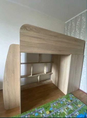 Кровать-чердак с игровой зоной и шкафом