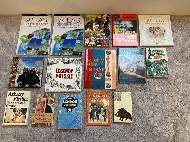 Książki/legendy/przewodniki/atlasy