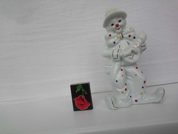 Фарфоровый клоун статуэтка