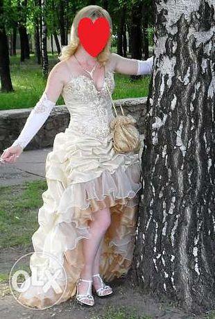 Выпускное платье со шлейфом + бонус