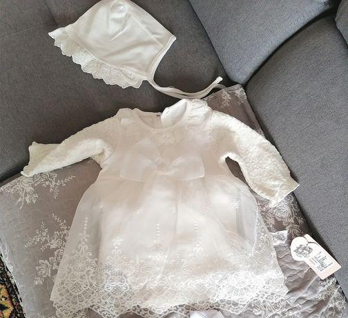 Sukienka do chrztu ecri ecru 68