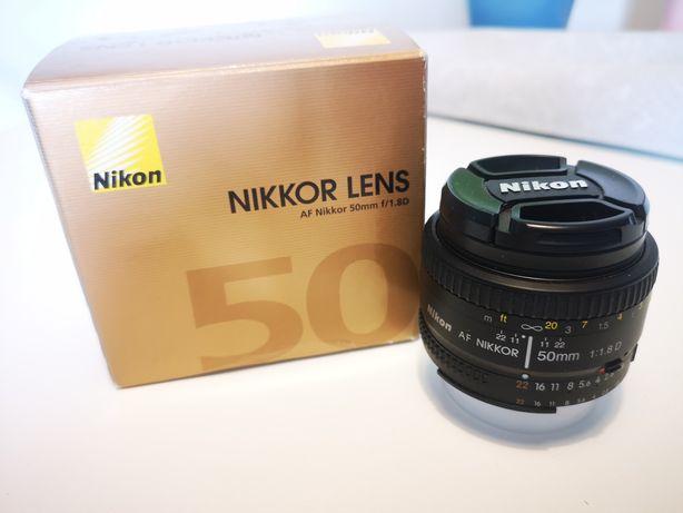 Obiekty Nikkor 50mm 1,8 1.8 nikon