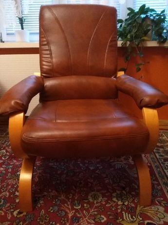 Skorzany fotel, stan bardzo dobry