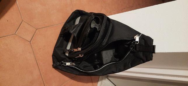 Plecak sportowy na jedno ramię czarny miejski