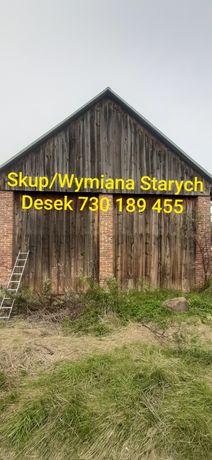 Stare deski stodoły skup darmowa wymiana na nowe blachę rozbiórka