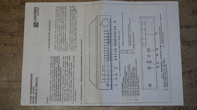 instrukcja/schemat tunera Unitra-Diora AS-632/633