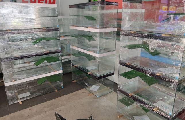 Aquário Tartarugueira 80 x 40 x 40 c/ plataforma e tampas