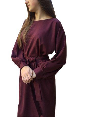 Удобное платье с кармашками, платье для пышных дам, сукня для офісу