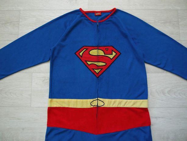 размер L, Взрослый человечек-пижама-костюм Супермен, Superman, б/у.