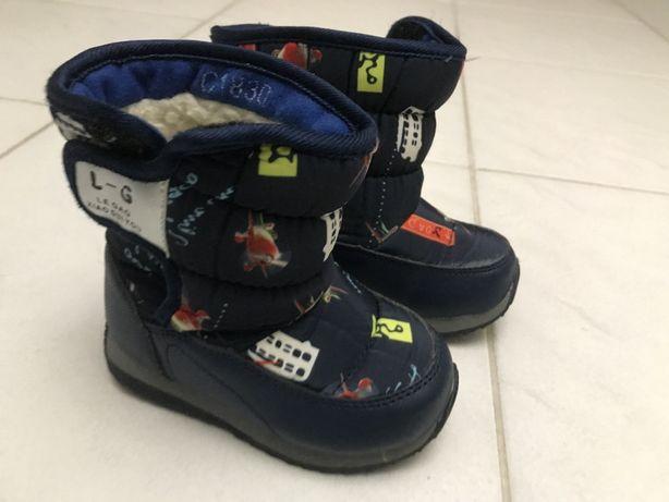 Зимние сапоги теплые сапожки для первых шагов