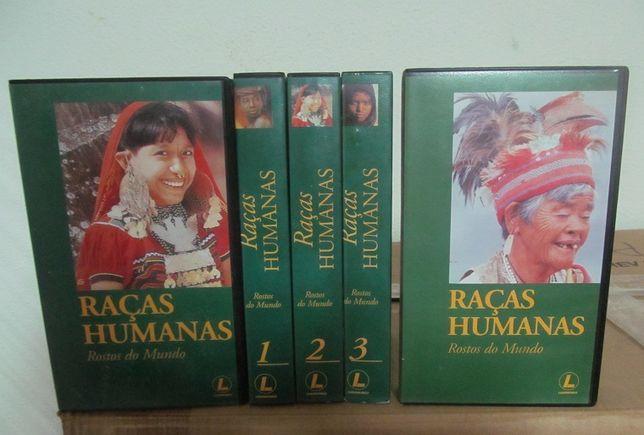 Colecção em 5 cassetes VHS, RAÇAS HUMANAS Rostos do Mundo
