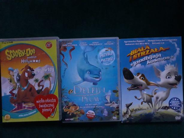 Bajki Dvd,Scooby Doo,Biała i Strzała,Delfin Plum