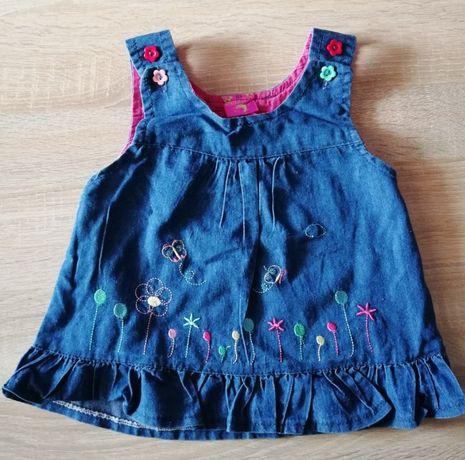 Jeansowa sukieneczka dla małej dziewczynki rozm 68.