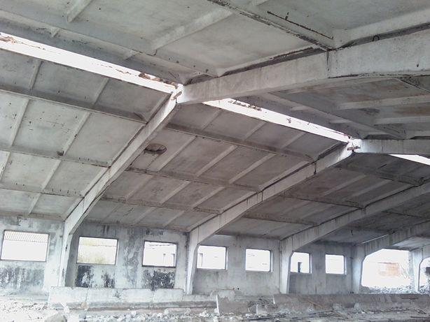 Склад Ангар клюшечник,плиты дорожные перекрытия.Строительство, Монтаж