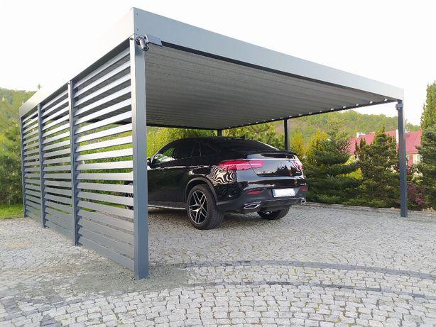Wiata garażowa samochodowa stalowa Carport