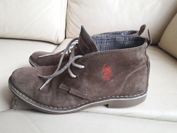 U.S..POLO A.S.S.N.Męskie skórzane buty typu sztyblety rozmiar 41.