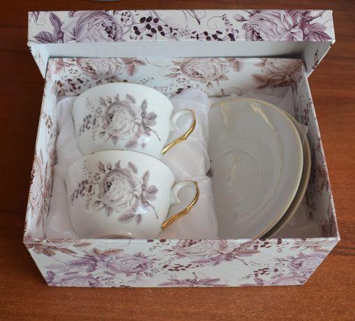 Nowe porcelanowe filiżanki. Komplet 2 sztuki