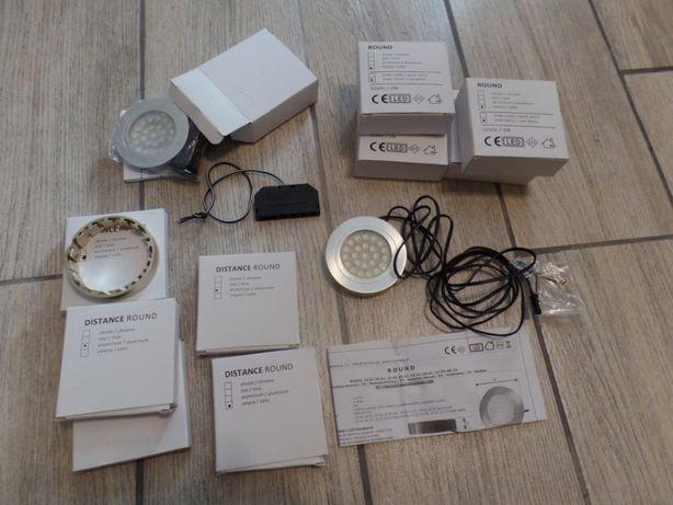 Oświetlenie podszafkowe LED z pierścieniem, aluminiowe, inox, nowe