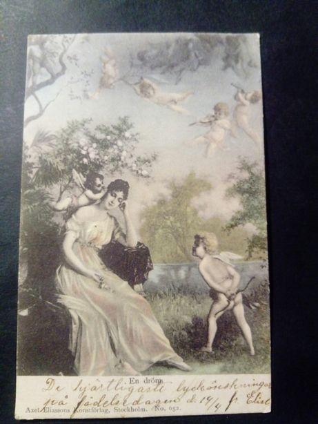 Kartka pocztowa, Sweden, Flädie 1903r.