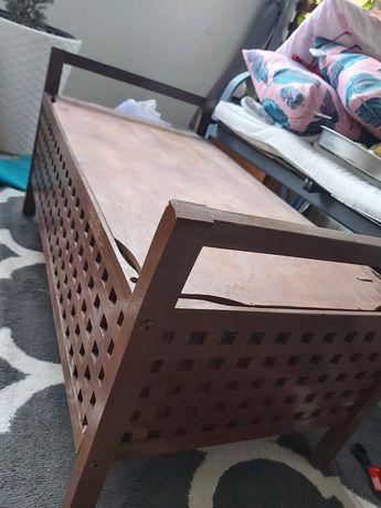 Ławka, schowek, stolik