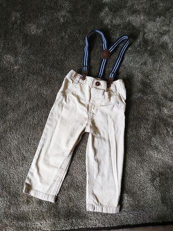 Spodnie na szelkach r. 80 Eleganckie z szelkami