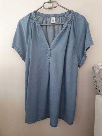 Tunika ciążowa z cienkiego jeansu
