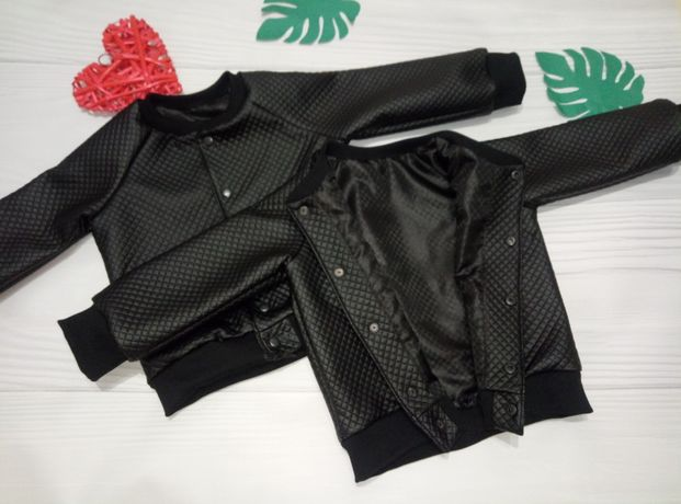 Кожаная косуха ветровка куртка бомбер унисекс