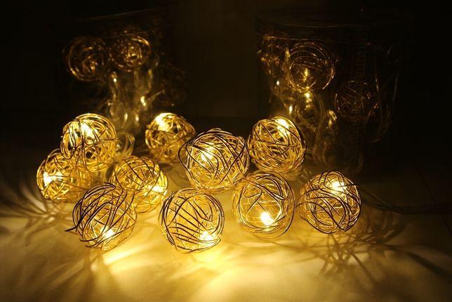 Гирлянда золотые шары 2м