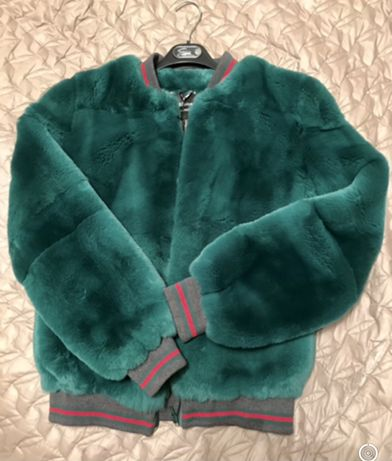 Куртка бомбер натуральный мех