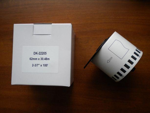 Термопапір термобумага для принетрів етикеток Brother DK-22205
