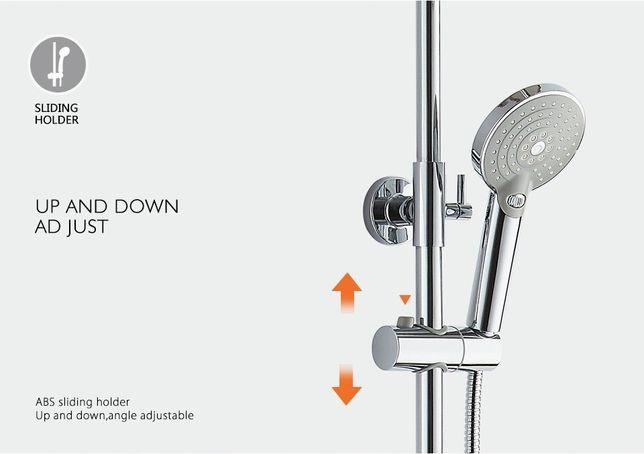 Душевая система с термостатическим смесителем и тропическим душем