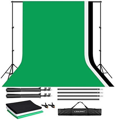 OUTLET 2x3m stojaki na tło zestaw studio fotograficzne CRAPHY + 3xTŁO