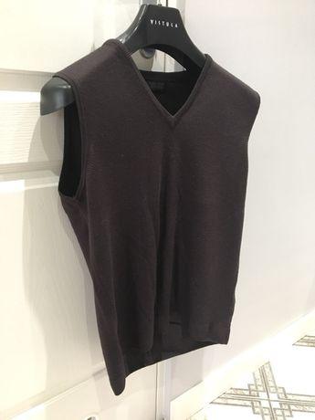 Kamizelka sweterkowa Zara, brąz, nowa, rozm. M