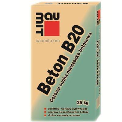 Zaprawa, jastrych betonowy BETON 20, BAUMIT 25kg Kraków - image 1