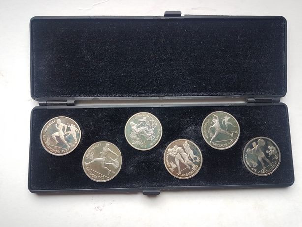 1 рубль 1991 год. Набор монет Барселона 1992.