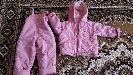 Курточка+ полукомбинезон. Комплект на девочку