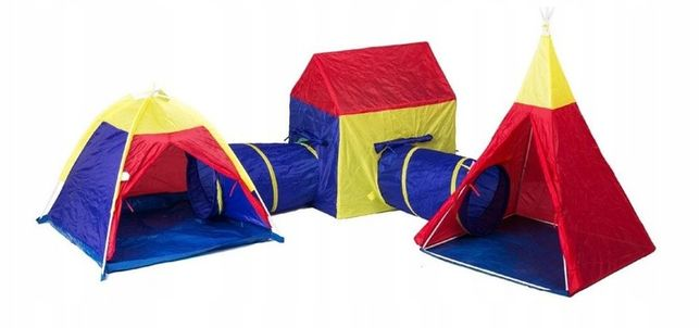 Игровой комплекс 5в1 палатка детская игровая домики + тоннель