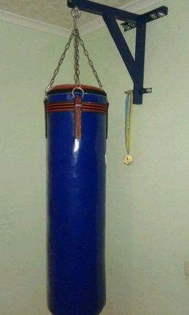 Боксёрский мешок новый с цепью  40 кг высота 140см диаметр 30 см