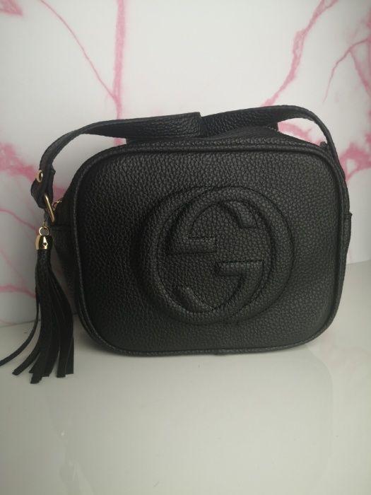Torebka Gucci Soho Czarna Skórzana mała premium Chełm - image 1