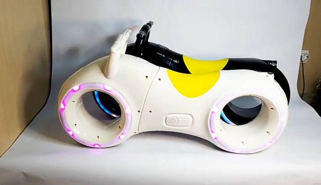 Беговел велобег детский с LED подсветкой Трон байк
