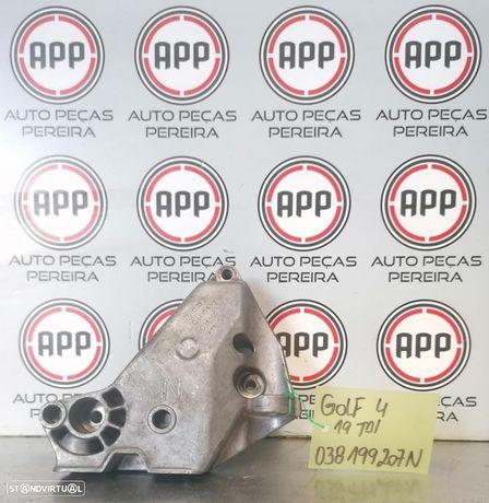 Apoio motor, destruição VW Golf 4 1.9 TDI referência 038199207N.