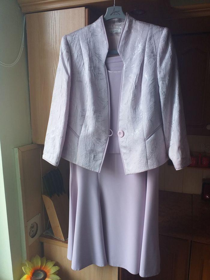 Zestaw 3 częściowy żakiet+sukienka+bluzka Wronki - image 1