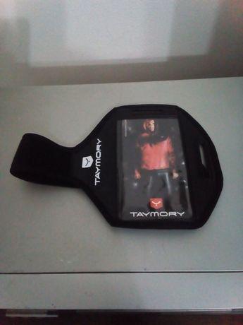 Bolsa para telemóvel nova(braço)e Auscultadores